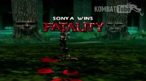 "Mortal Kombat 4 & Mortal Kombat Gold - Fatalities - Sonya Blade - ""Slice Kiss"""