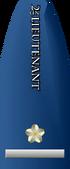 2nd Lieutenant text vert