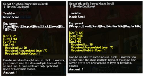 Knight and Wizard's Scroll