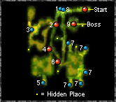 Map - Hidden Elf Garden - Secret Areas