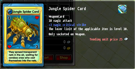 Jungle spider card
