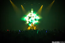 Madeon performing at the Bayou Music Center during Zedd's True Colors Tour