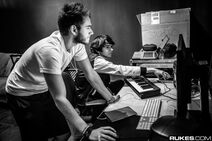 Zedd and Madeon during the True Colors Tour
