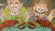 Lobsters watching human idiots