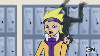 Naruto behind locker damaged