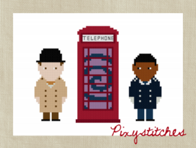 Inspector spacetime cross-stitch-by Pixystitches