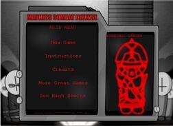 Madness Combat Defence menu