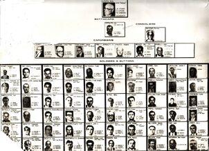 La crime family chart