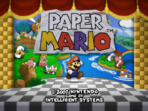 Paper Mario 01 - title screen