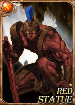 Red Statue full card