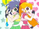 Powerpuff Girls Z Blossom and Buttercup in episode 12