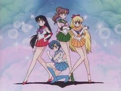 Sailor Moon Innner Senshi in the Opening