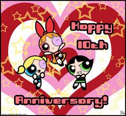 10 Years of Powerpuff Girls by pigeon wing