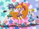 Powerpuff Girls Z Group transformation pose