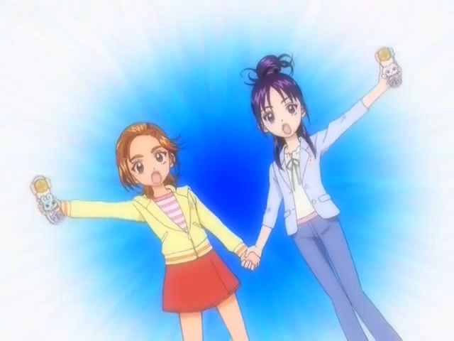 File:Futari wa Pretty Cure Splash Star Saki and Mai in the Dual Spiritual Power transformation.jpg