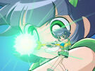 Powerpuff Girls Z Buttercup using her upgraded attack2