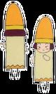 Yume no Crayon Oukoku Kiiro pose
