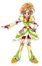Pretty Cure Splash Star Cure Bright pose
