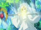 Kamichama Karin Apollo using the Bushia Tempest attack