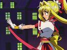 Kamikaze Kaitou Jeanne Kaitou Jeanne preparing her ribbon2