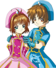 Card Captor Sakura Sakura and Syaoran pose2