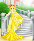 Princess Venus in front of the stairs