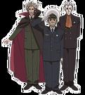 Rikujou Bouetai Mao-chan Rikushiro, Sorajiro and Adalbert