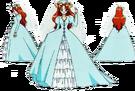 Wedding Peach Angel Lily bride pose