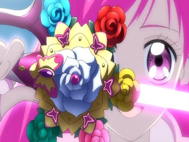 File:Yes! Pretty Cure 5 GoGo! Shining Dream with her Starlight Fleuret.jpg