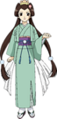 Rakugo Tennyou Oyui Osaki pose