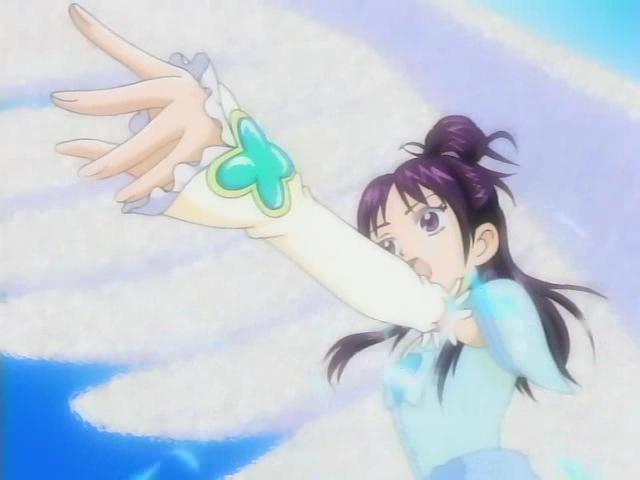 File:Futari wa Pretty Cure Splash Star Mai in her Cure Egret transformation.jpeg