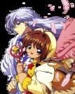 Card Captor Sakura Sakura and Yue pose