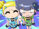 Powerpuff Girls Z Bubbles and Buttercup in episode 43
