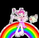 Cosmic Baton Girl Comet-san Comet Rababoo rainbow pose