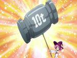 Majokko Mirakurun using her Mirakurun Super Donki attack