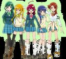 Mahou Shoujo Pixy Princess main characters group