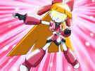 Powerpuff Girls Z Robo Blossom transformation pose