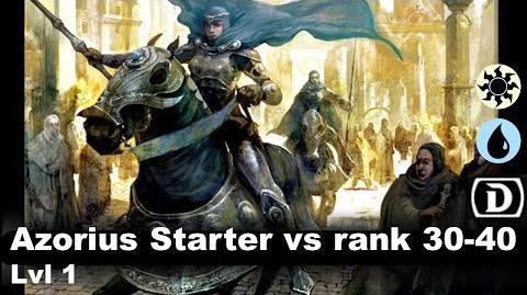 Lvl 2 Azorius Starter only vs 30-40 rank