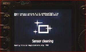 Firmwaresensorcleaningscreen