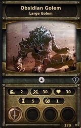 Obsidian-golem