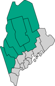 Maine Lake Country counties