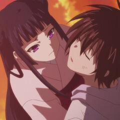 Kokoro showing concern for Yamato (Anime)