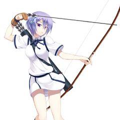 Miyako preparing for battle