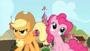 Applejack and pinkie pie