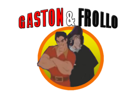 Gaston and Frollo title logo