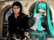 Michael jackson and hatsune miku