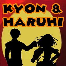 Kyon and Haruhi Logo show