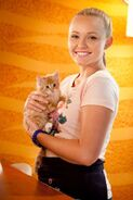 Carly holding a cat