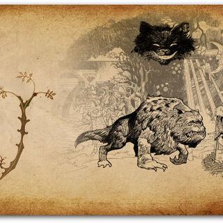 The Executioner, Bandersnatch and the Cheshire Cat.