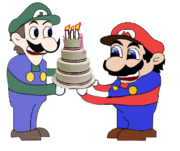 Malleo and Weegee in birthdays